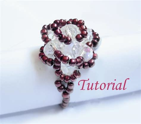 bead jewelry rings beaded flower ring pattern images frompo 1