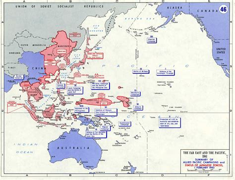 pacific war map department of history wwii asian pacific theater