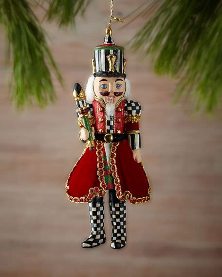tree nutcracker mackenzie childs trim the tree nutcracker ornament