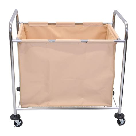 Luxor Furniture Hl14 Heavy Duty Laundry Cart W Removable Laundry With Removable Bag