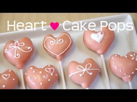 heart shaped cake pops recipe youtube