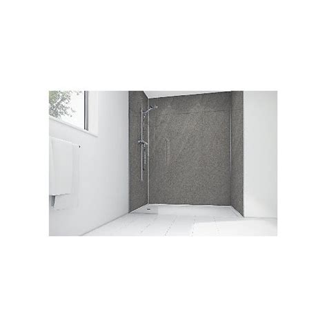 travis perkins bathroom tiles wickes lunar grey laminate 1200x900mm 2 sided shower panel