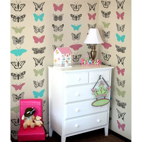 home decor stencils butterflies allover stencil pattern butterfly stencil