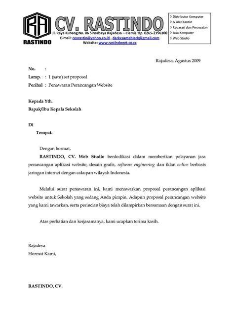 Contoh Surat Resmi Mengenai Permintaan by Contoh Surat Penawaran Kerjasama Contohsuratmu