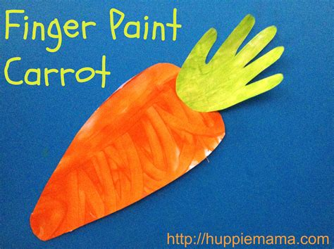 carrot craft for finger paint carrot our potluck family