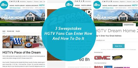 Single Entry Sweepstakes - 3 sweepstakes hgtv fans can enter now and how to do it