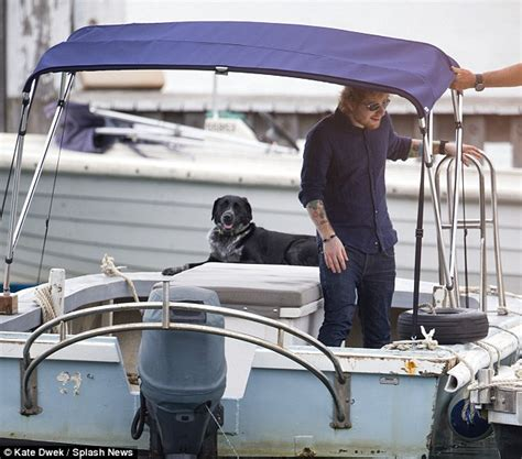ed on a boat ed sheeran jets to sydney show on sea plane after home and