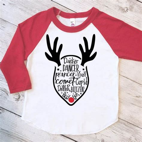 printable vinyl for shirts funny kids christmas shirt reindeer shirt kids christmas