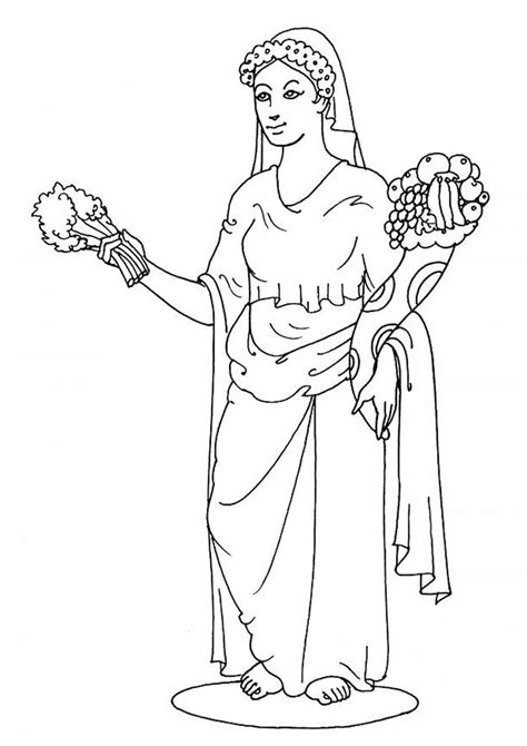 goddess demeter coloring pages hellokids com