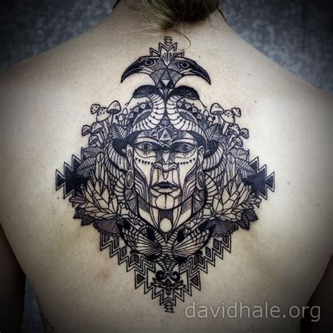 shaman tattoo a shaman medicine appears with totem animals in this