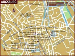 Augsburg Germany Map map of augsburg