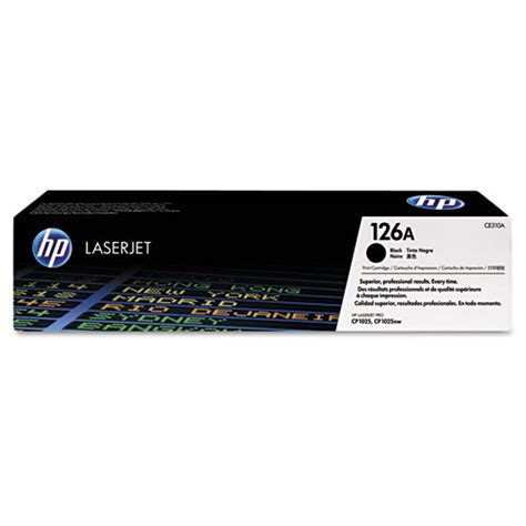 Hp 126a Black Original Laserjet Toner Cartridge Ce310a 1 hp ce310a black toner cartridge