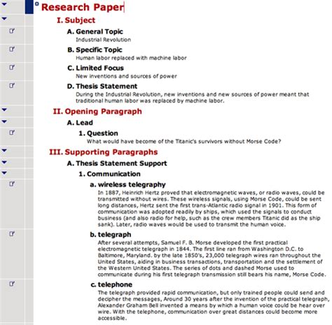 Exle Research Paper by Social Studies Graphic Organizer And Outline Exles From Webspiration Classroom Inspiration