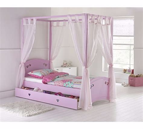 four poster single bed frame single 4 poster bed frame pink ex display in aston