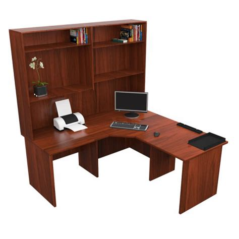 Cherry Corner Desk With Hutch Origo Corner Workstation Office Desk With Hutch Cherry For Sale Australia Wide Buy