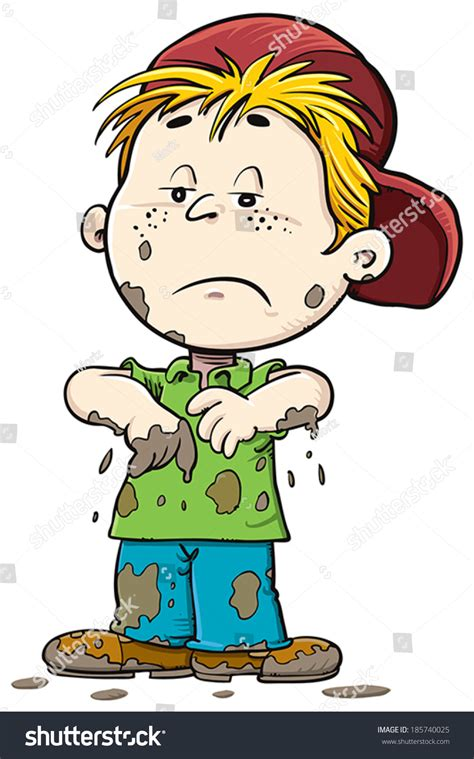 Dirty child stock vector 185740025 shutterstock