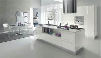 Contemporary White Kitchen Designs Open Modern Kitchens With Few Pops Of Color