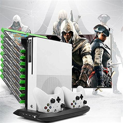 xbox one controller with fan xbox one s vertical stand fan controller charging