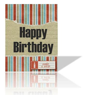 printable birthday cards male greeting card man or boy birthday printable striped with torn