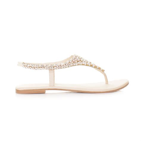 flat sandals for prom womens diamante slingback shoes wedding prom