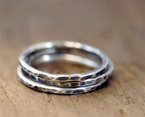 etagere 2 stöckig silber sterling silver stacking rings s0197 monkeysalwayslookshop