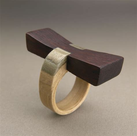 Recycled Wooden Wedding Ring From Gustav Reyes by Gustav Reyes Simply Wood Rings Daily Muse