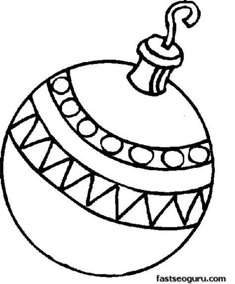 printable a bauble decorating a christmas tree coloring page