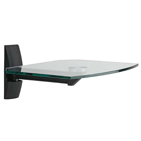 wall shelf omnimount glass component wall shelf black ecs