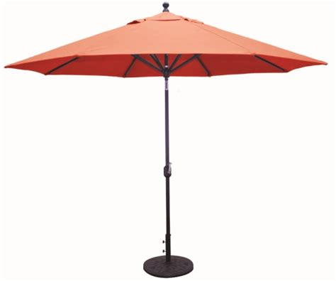 Auto Tilt Patio Umbrella 11 Aluminum Deluxe Auto Tilt Patio Umbrella