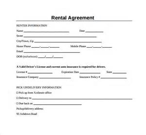 simple rental agreement template sle generic rental agreement 6 free documents in pdf