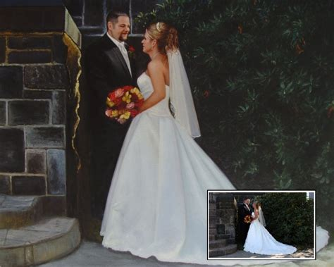 Wedding Portrait Photo by Wedding Painting Wedding Portrait Painting