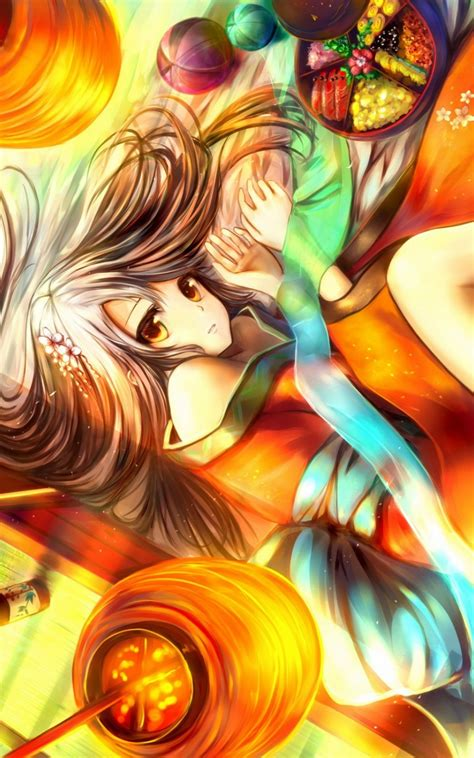 tempat download wallpaper anime android brunettes touhou anime colorful android wallpaper free
