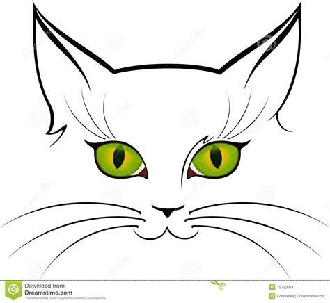 printable cat eyes beeld van kattenogen vector illustratie illustratie