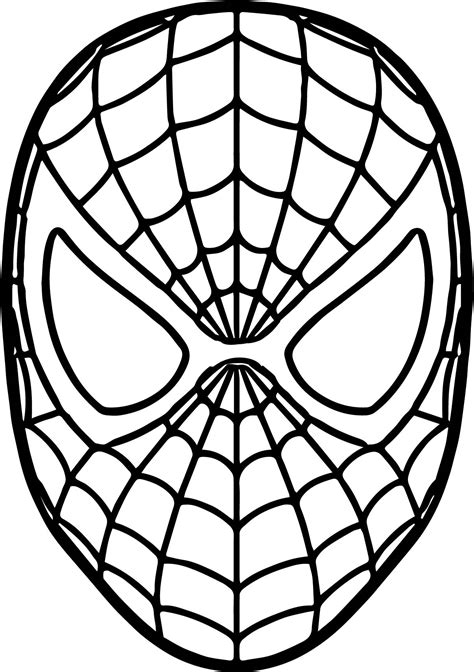 printable spiderman mask template spider man mask coloring page wecoloringpage