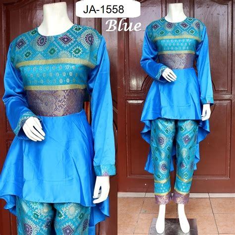 Baju Pesta Songket Varisha Fs2676 baju pesta setelan songket palembang 3 warna baju pesta busana muslim modern model gamis terbaru