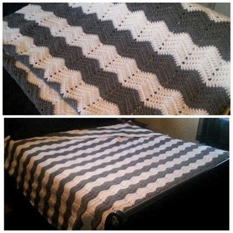 crochet pattern queen size blanket finished queen sized chevron crocheted blanket crochet