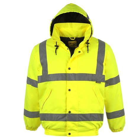 design high visibility jacket dunlop mens hi vis high visibility safety bomber jacket