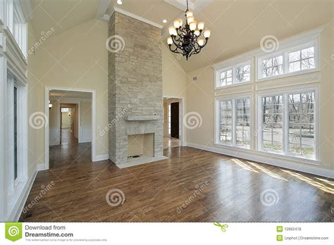 two story fireplace living room with two story fireplace stock photo image 12662478