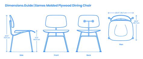 Eames Lounge Chair Dimensions by Eames Molded Plywood Dining Chair Dimensions Drawings