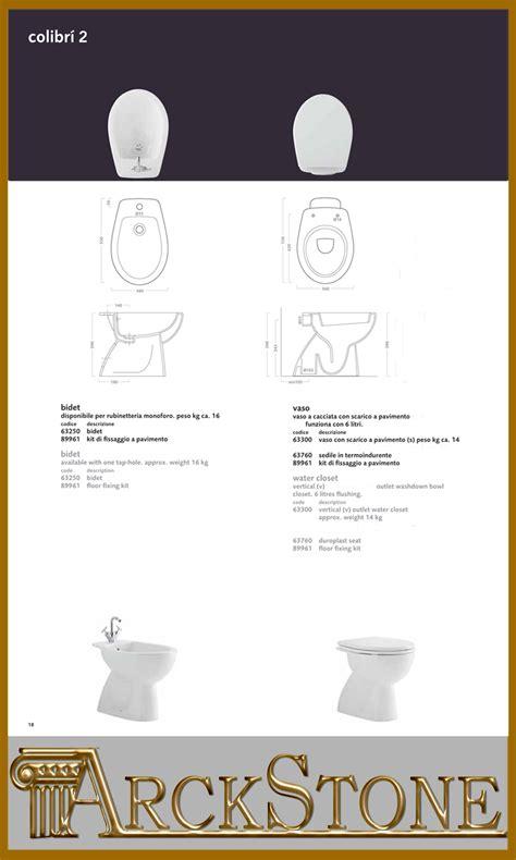 bidet colibri 2 scheda tecnica arckstone igienici sanitari bagno vaso bidet terra bianco
