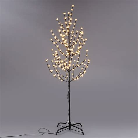 warm white 180led blossom tree light balck branch home