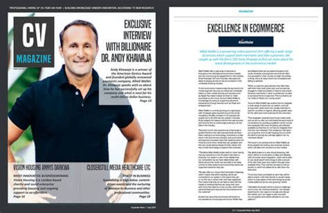 allied wallet ceo dr andy khawaja featured in cv magazine