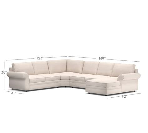 pearce upholstered 4 chaise sectional with wedge