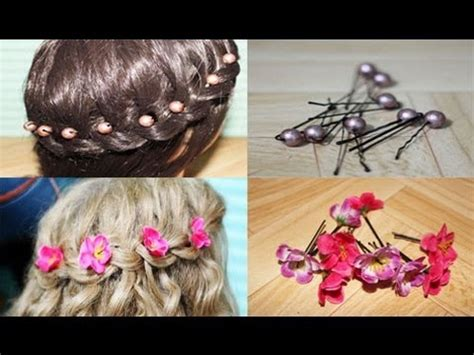 How To Make Hair Accessories At Home Easy by Easy Diy Flower And Hair Accessories And Giveaway