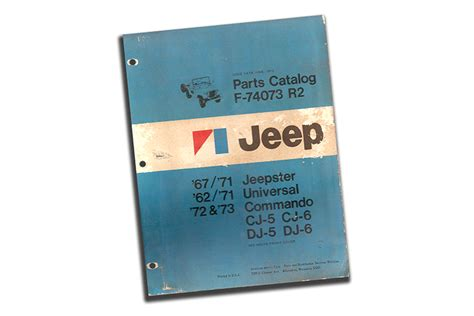 Jeep Parts Catalog 1962 To 1973 Jeep Parts Catalog Revision 2 Jeep Parts