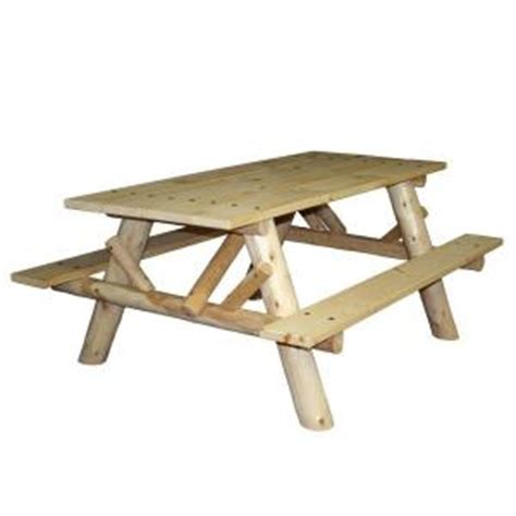 6 ft patio picnic table with attached benches cfu232