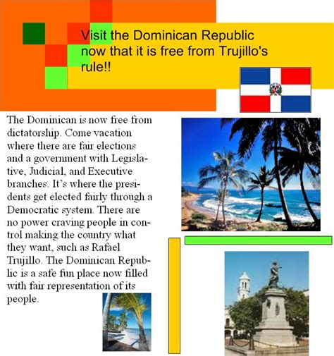 etls free republic page lots of links latest articles cyberenglish9 dominican travel poster nt