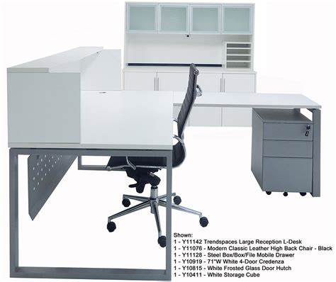 white l shaped office desk trendspaces white l shaped reception desk