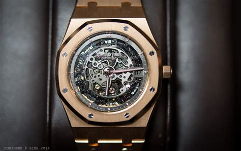 Audemars Piguet Ap Ro Thin Rosegold Black Ultimate on with the audemars piguet royal oak openworked thin in gold hodinkee
