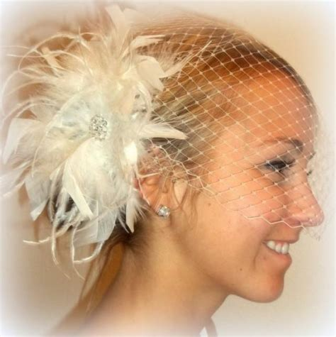 wedding hair using nets wedding feather bridal hair fascinator and bandeau french